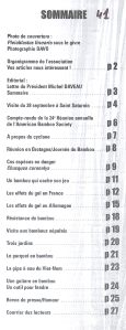 Bulletin 41 sommaire